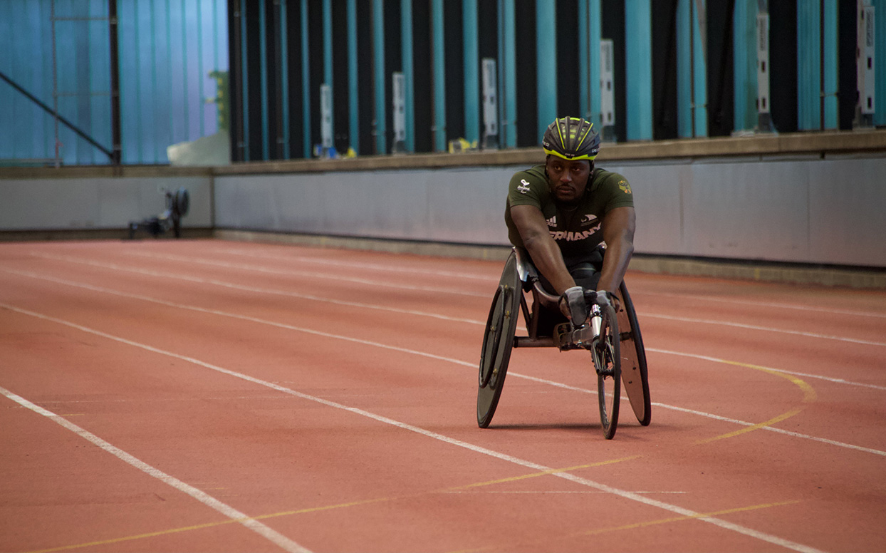Competitive sports in a wheelchair – Alhassane Baldé.